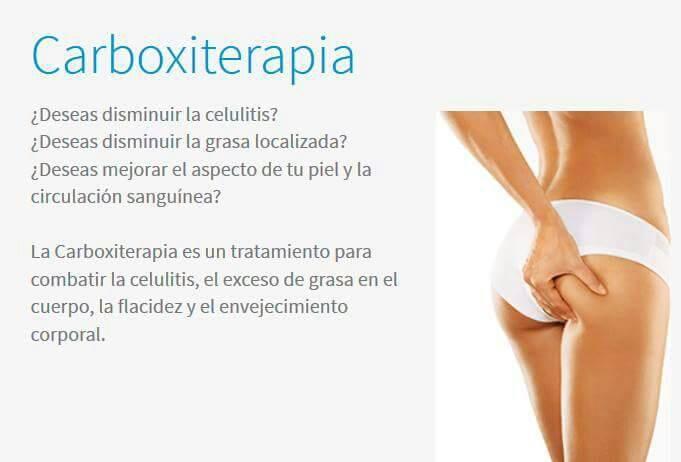 Carboxiterapia, tratamiento que comate celulitis, exceso de grasa en el cuerpo, flacidez, y envejecimiento corporal
